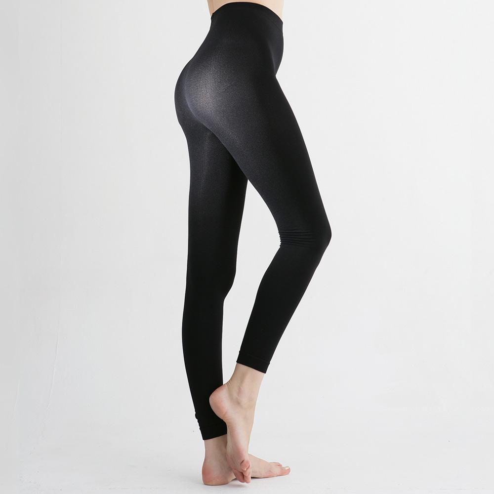 足下物語  台灣製熱感應280丹美臀纖腰內搭褲 2件組S-XL(黑黑)