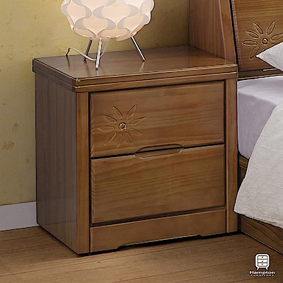 漢妮Hampton格溫系列實木床頭櫃-50x43x54cm