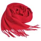 Vivienne Westwood 長版刺繡行星LOGO羊毛圍巾(櫻桃紅)