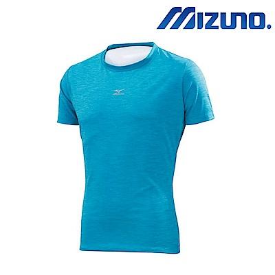 MIZUNO 美津濃 短袖機能男緊身衣 亮藍 12TA7C0619