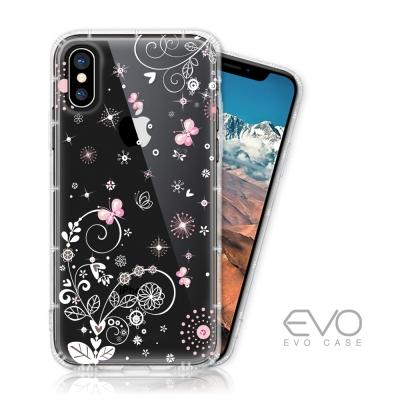 EVO CASE iPhone X 奧地利水鑽殼 - 清新粉蝶