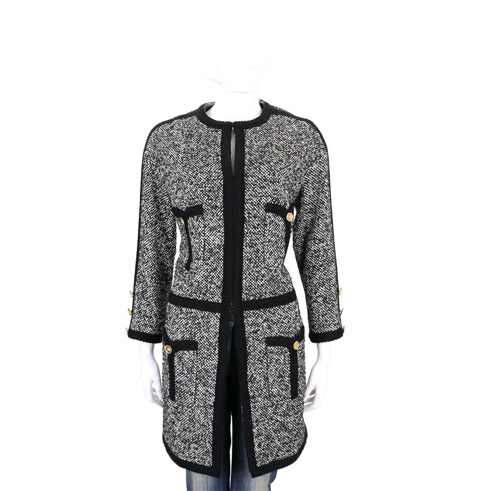EDWARD ACHOUR PARIS 黑白色毛呢大衣外套