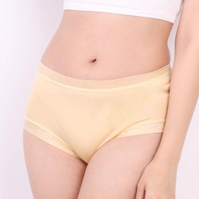 內褲 清新雅致100%蠶絲中高腰三角內褲 (黃) Chlansilk 闕蘭絹