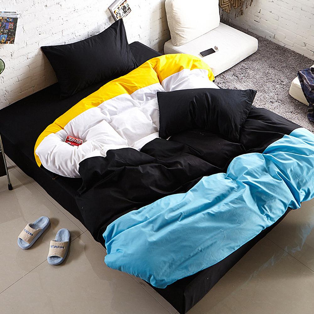 生活提案-糖果英倫系列-柔絲絨全鋪棉兩用被冬包組-雙人-黑色幽默