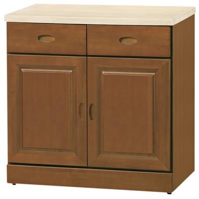 時尚屋 凡尼爾樟木色2.7尺餐櫃