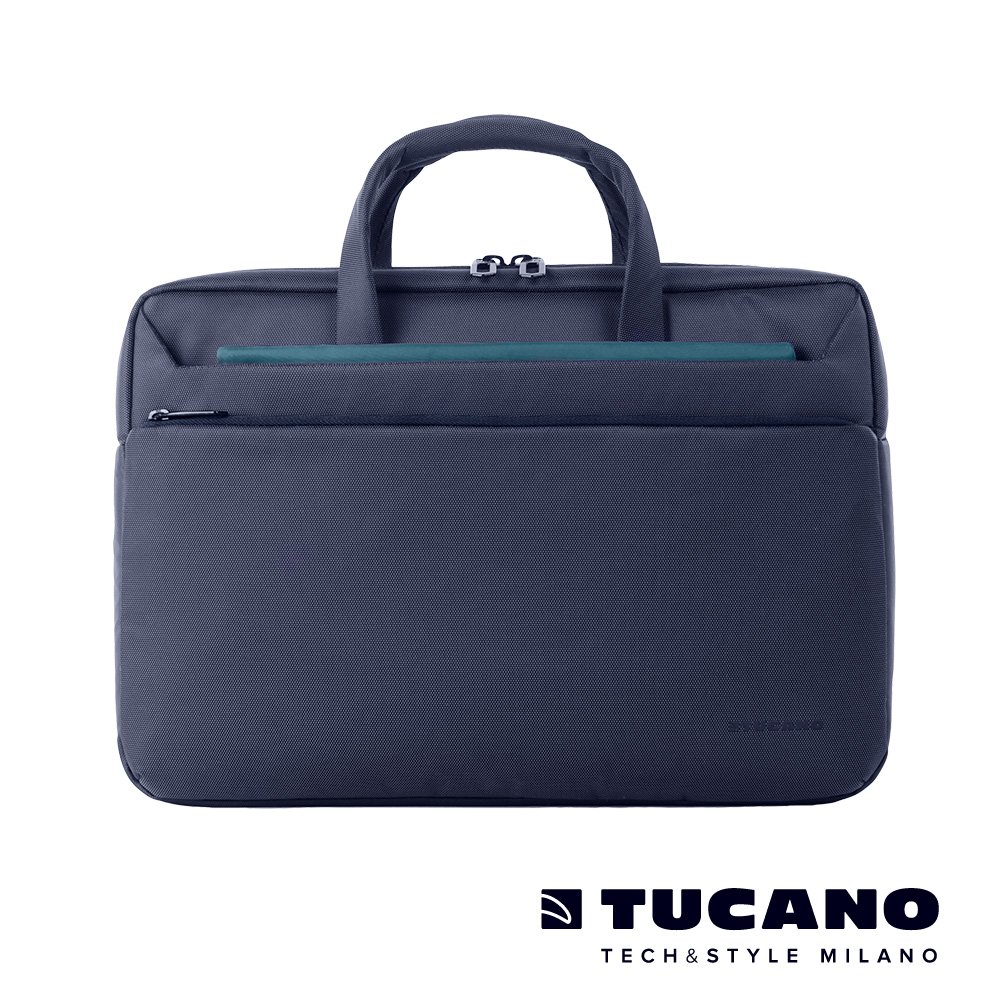 TUCANO WORK_OUT III 時尚亮彩薄型側背包 13吋-藍