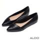 ALDO-原色真皮幾何金屬鉚釘尖頭鞋-尊爵黑色