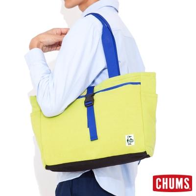 CHUMS-日本-Sweat-休閒托特包-檸檬綠