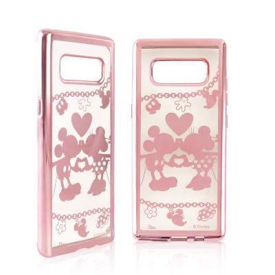 Disney迪士尼 三星Galaxy Note8時尚質感電鍍保護套-鎖鏈系列 米...