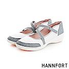 HANNFORT H-COMF五密度輕閃耀光娃娃鞋-女-舒適白-動態show