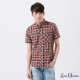 Earl-Jean-拼接短袖襯衫