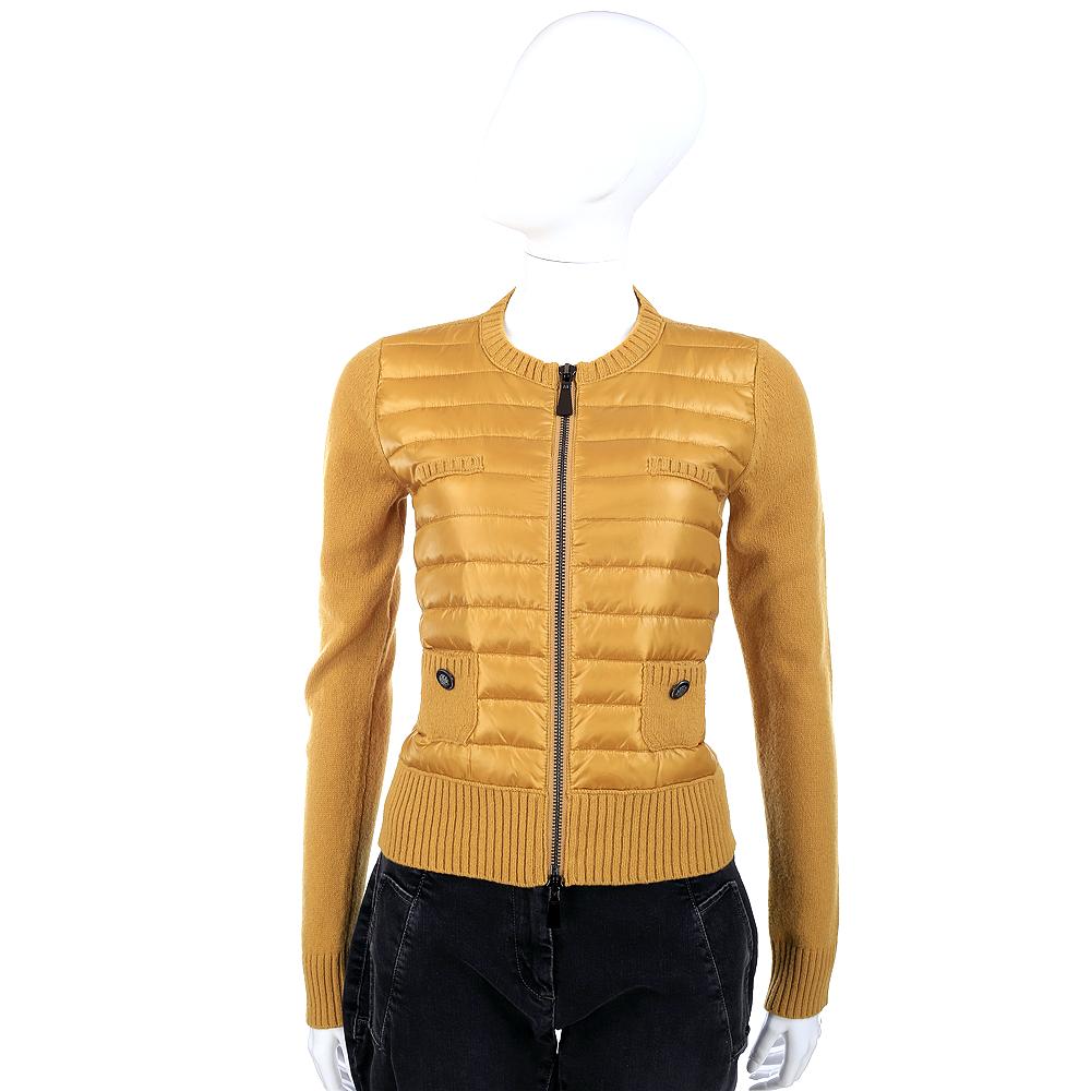 MARELLA 拼接設計拉鍊針織外套(黃色)