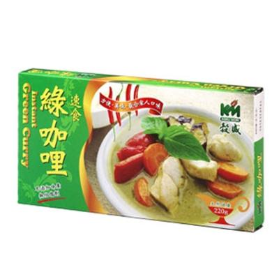 穀盛 速食咖哩綠咖哩(220g)