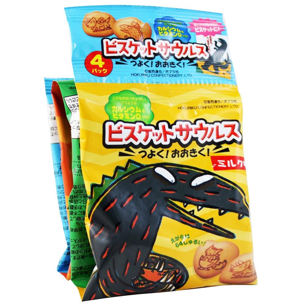 北陸製果 4連恐龍圖餅乾(80g)