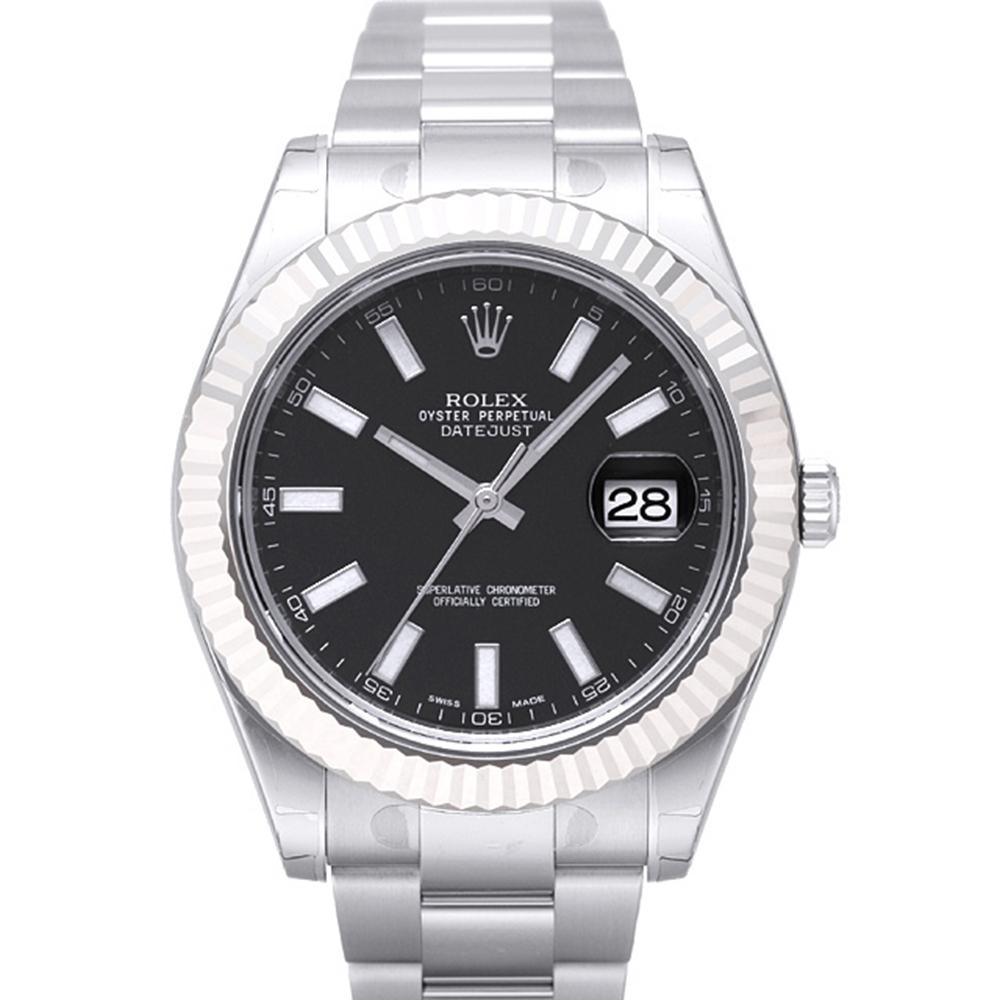 ROLEX 勞力士 DatejustII 116334 恆動日誌型腕錶-黑面/41mm
