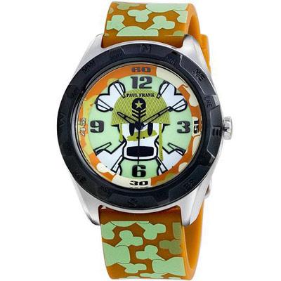 Paul Frank  叢林野戰Skurvy骷髏橡膠腕錶-士兵/綠/44mm