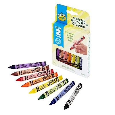 美國 Crayola繪兒樂 幼兒可水洗三角筆桿蠟筆8色(24M+)