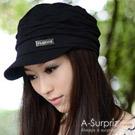 A-Surpriz 優雅皺褶貝蕾帽(氣質黑)