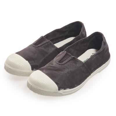 (女)Natural World 西班牙休閒鞋 刷色鬆緊基本款*鐵灰色