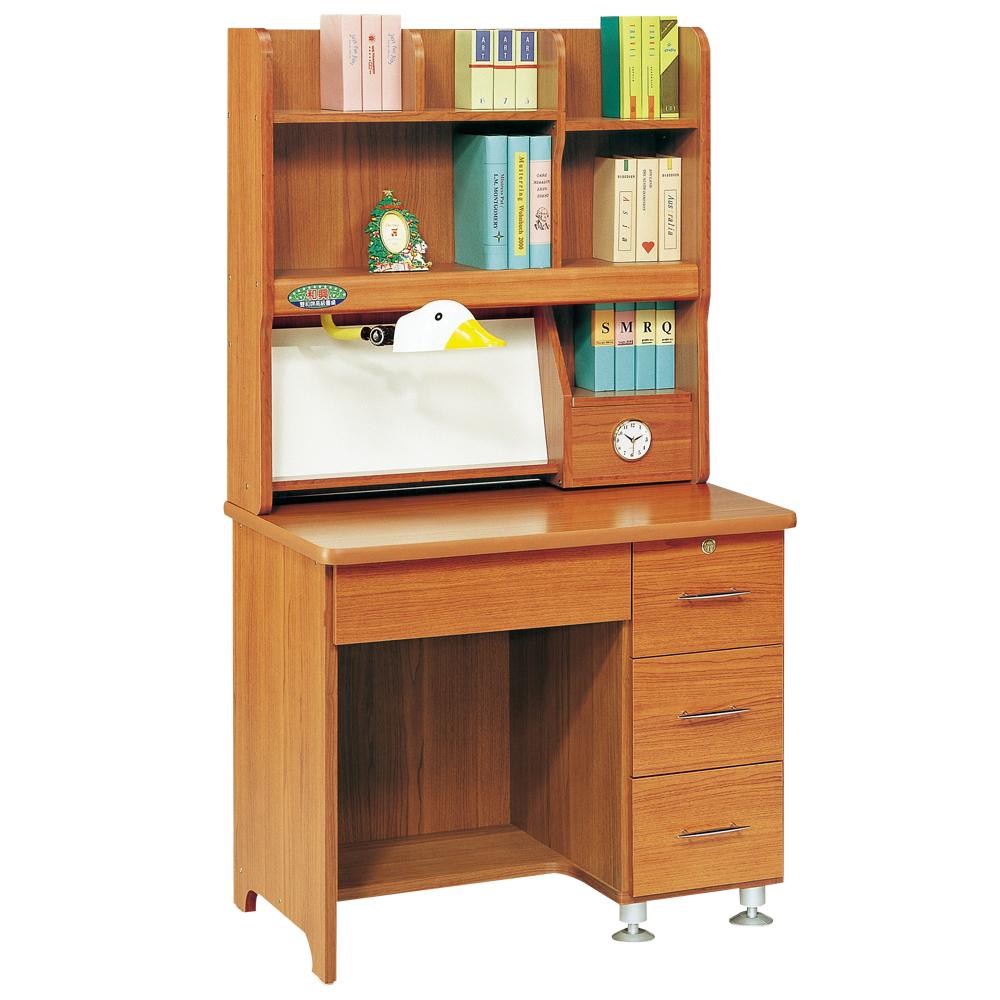 時尚屋 和興層架書桌-可選色 寬91cm