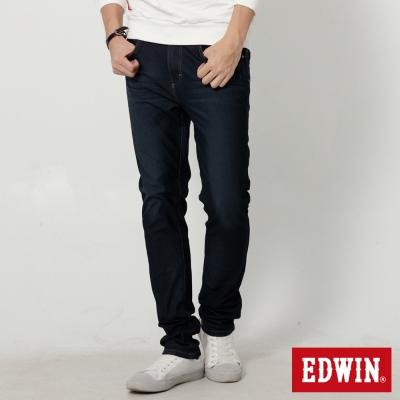 EDWIN 迦績褲JERSEYS漸層袋花直筒牛仔褲-男-原藍磨