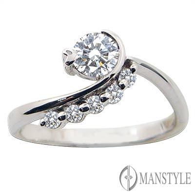 MANSTYLE DIAMOND「柔情依偎」0.30ct  八心八箭鑽戒
