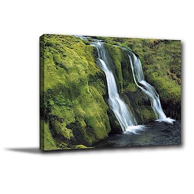 24mama掛畫-單聯式橫幅 掛畫無框畫 山水瀑布 40x30cm