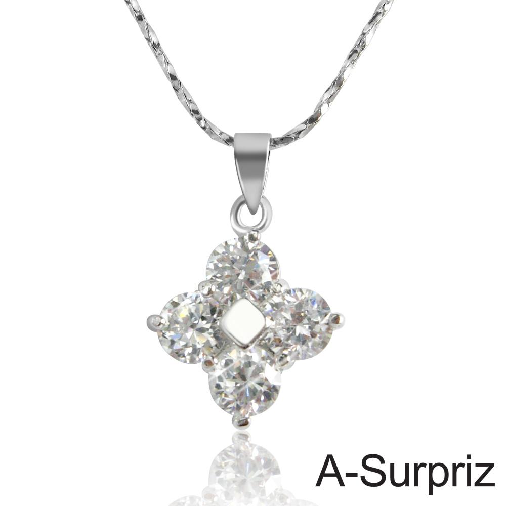A-Surpriz 浪漫花語鋯石項鍊