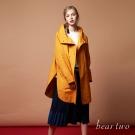 beartwo 長版雙排釦開襟造型外套(二色)-動態show