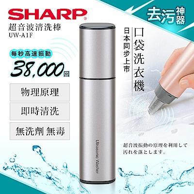 SHARP 夏普 超音波清洗棒/時尚銀 UW-A1F-S