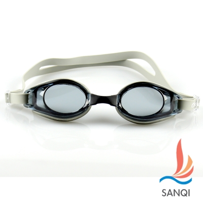 SANQI三奇 夏日必備抗UV防霧休閒泳鏡(753-灰F)