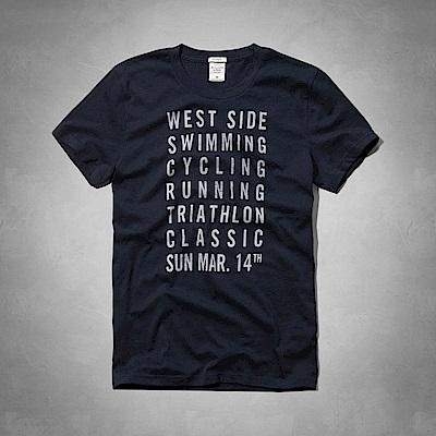 AF a&f Abercrombie & Fitch 短袖 T恤 藍色 0407