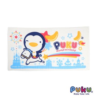 PUKU藍色企鵝 長方浴巾-60*114cm