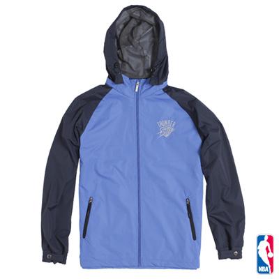 NBA-奧克拉荷馬雷霆隊連帽運動風衣外套-藍(男)