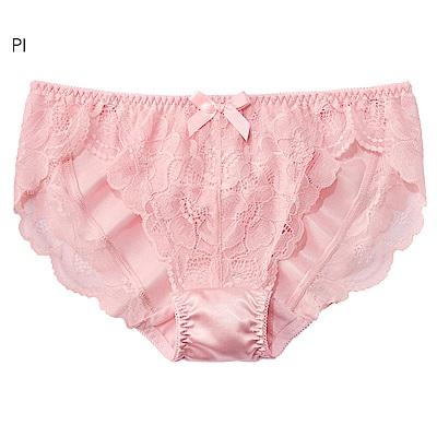 aimerfeel 淑女蕾絲交叉包覆內褲-粉紅色