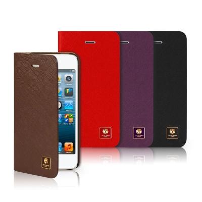 SOTANIA iPhone 5/5S/SE 側開高級皮革保護套
