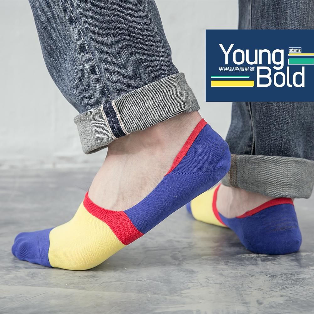 蒂巴蕾 Young Bold 男用彩色隱形襪-幾何