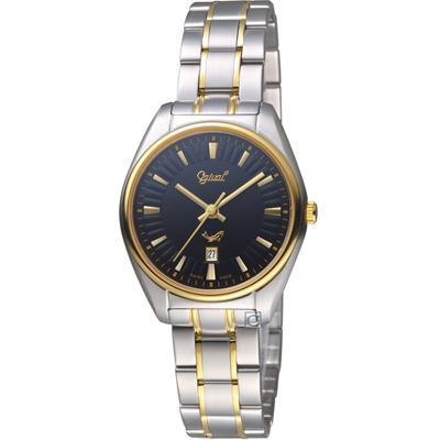 愛其華Ogival 知性韻調時尚腕錶(350-01LSK-B)黑x雙色/30mm