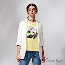 beartwo 簡約純色修身西裝外套(白色)