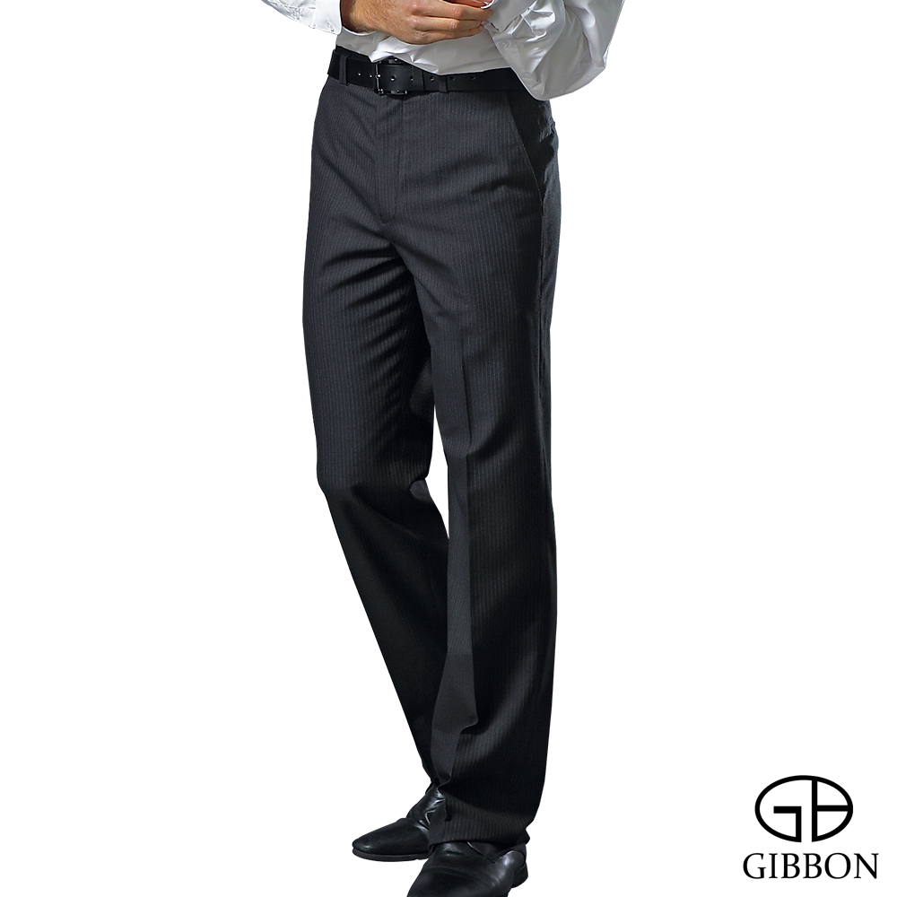 GIBBON 涼感吸排平口西裝褲‧夜藍30-42