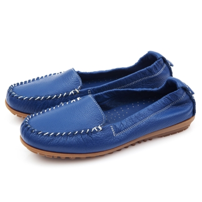 G.Ms.MIT系列-極好穿超軟Q全牛皮莫卡辛鞋-深藍