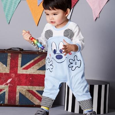 Disney Baby 米奇系列溫暖抱抱連身裝 淺藍