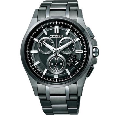 CITIZEN 浩瀚星空【鈦】光動能5局電波腕錶(BY0094-87E)-IP黑/44mm