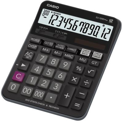 CASIO 12位元 桌上檢視記憶型商用計算機DJ-120DPLUS