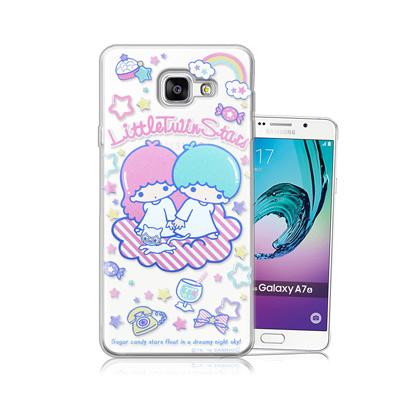 三麗鷗正版 雙子星 Samsung Galaxy A7 (2016)透明軟式保護...