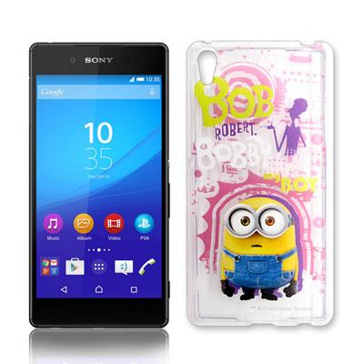 黃色小小兵正版Sony Xperia Z3+ 透明手機軟殼(人物篇)