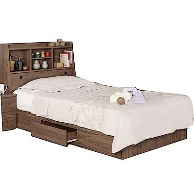 品家居 凱倫3.5尺單人收納床台組合(不含床墊)-106x211x104.5cm免組