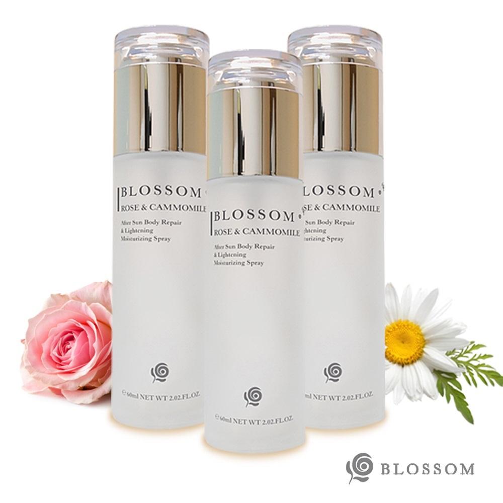 BLOSSOM 玫瑰洋甘菊植萃淨白無瑕煥采保濕噴霧(60ML/瓶)X3件組