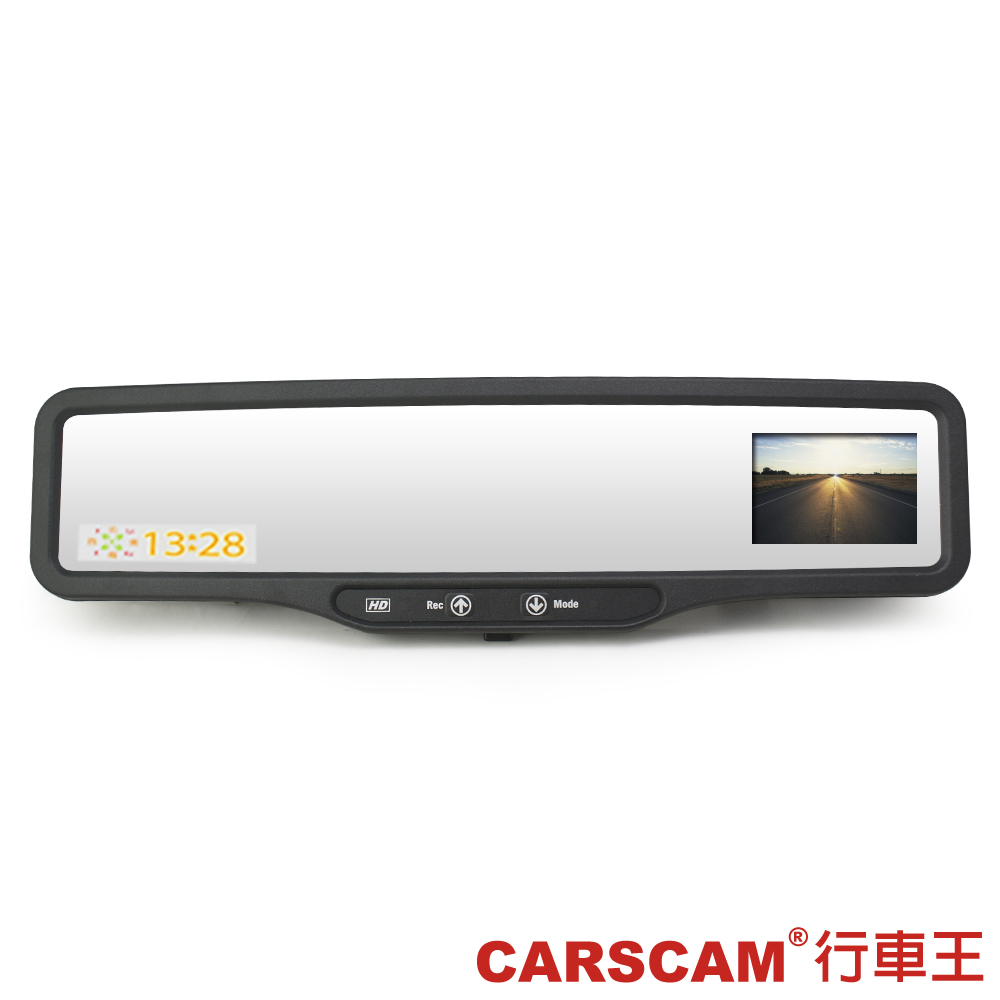 CARSCAM行車王 HDVR-210 高畫質後視鏡型測速行車記錄器-快
