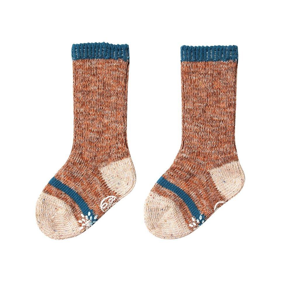 【BOBO】繽紛彩虹小腿肚襪(棕)
